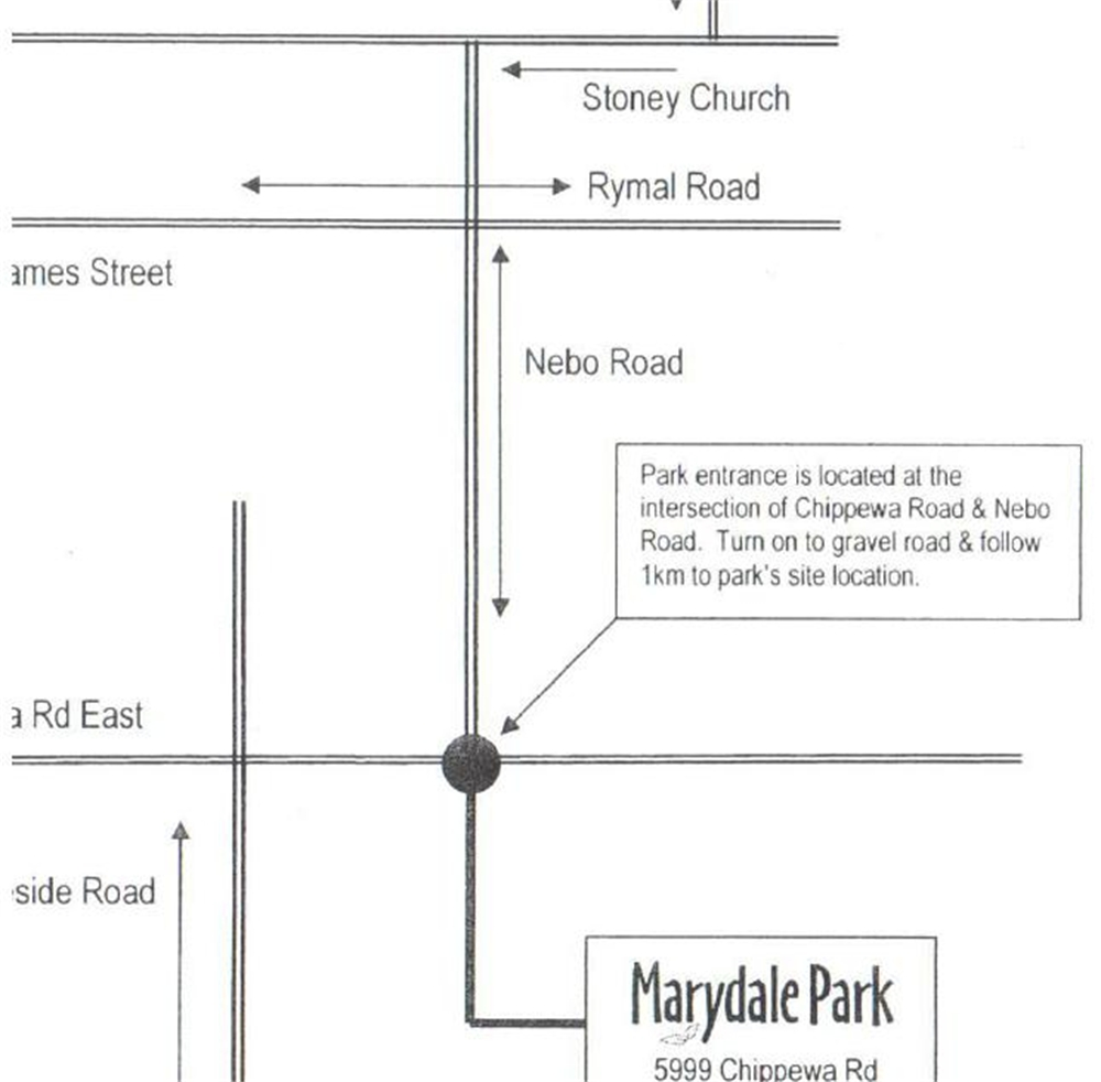 Map to Marydale Park